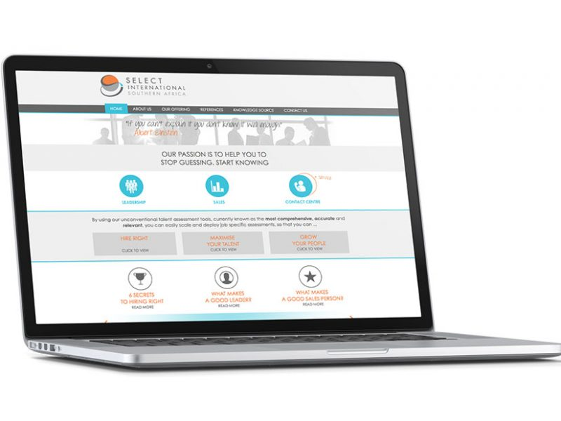 Select International SA Website Design